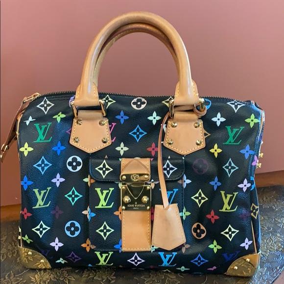 Louis Vuitton Handbags - Louis Vuitton Speedy Black Multi